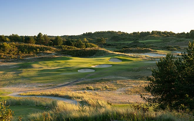 Loch 16 vom Linkscourse besten Golfplätze Europas