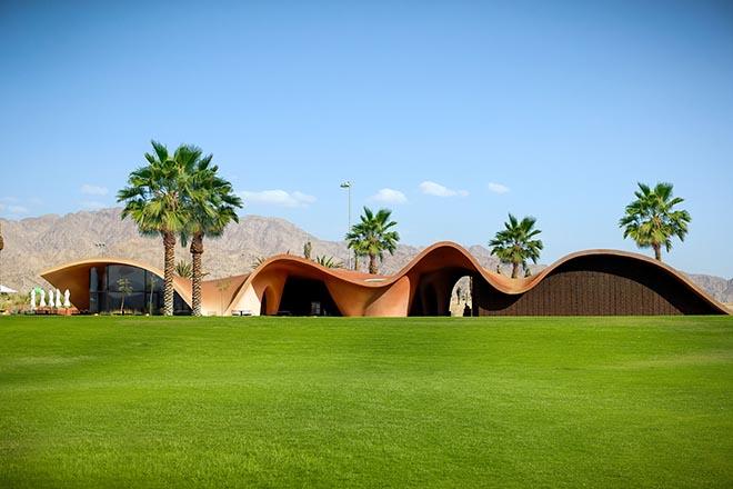 Greg Norman hat die 18 Loch designt. Oppenheim Architecture hat das Clubhouse für den Ayla Golf Club gebaut1 Fotocredit: Rory Gardiner