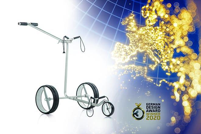 Der klappbare Pushtrolley aus Titan kostet ca. 1.190 €