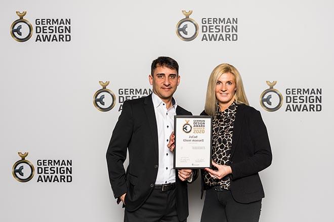Der German Design Award zählt zu den weltweit anerkanntesten Design-Wettbewerben. Kira und Jörg Jung holten sich die begehrte Auszeichnung für den Ghost manuell 2020.