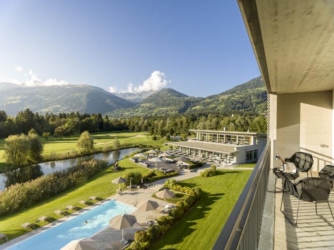 Dolomitengolf Suites: Alle Suiten sind mit Blick auf den Golfplatz. Fotocredit: Hamacher Hotels
