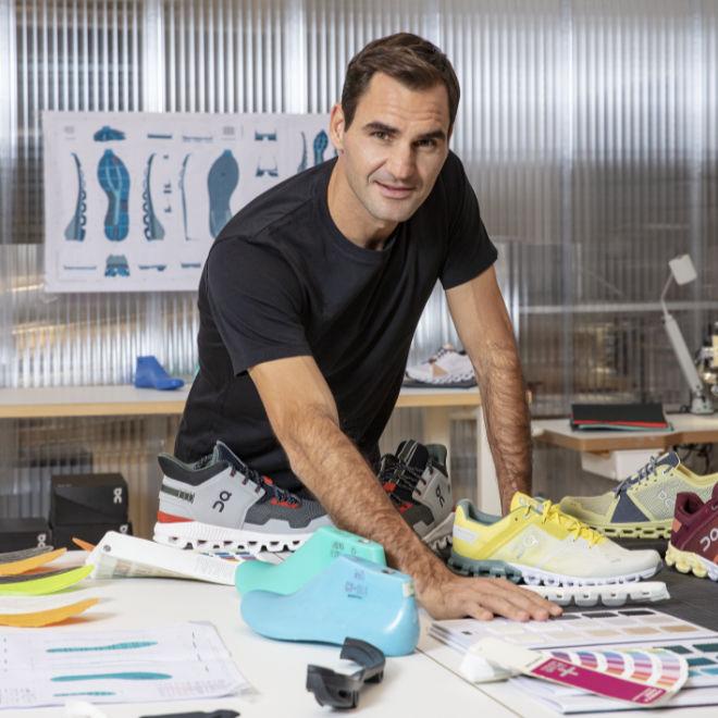 Roger Federer entwickelt Sportschuhe, welche man vielleicht auch als Golfschuhe nehmen kann
