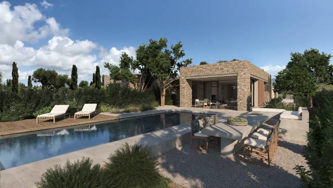 Jede Villa innerhalb des Costa Navarino Residences Projekt verfügt über einen Pool.