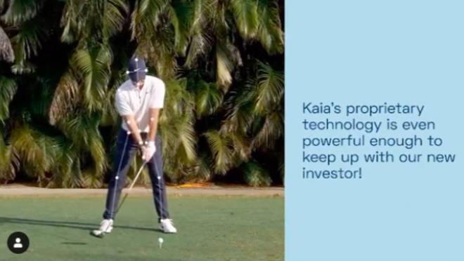 Rory McIlroy's Golfschwung wurde gleich für technische Parameter genommen! Fotocredit/Screenhsot KAIA Health Instagram