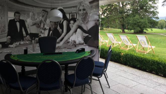 Bild aus Zeiten vor Corona: Nach vielen Golfturnieren gab es Casino-Feeling im Clubhaus.