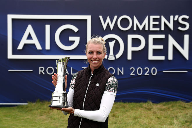 Sophia Popov gewinnt AIG Women's Open in Schottland. Photo by R&A via Getty Images
