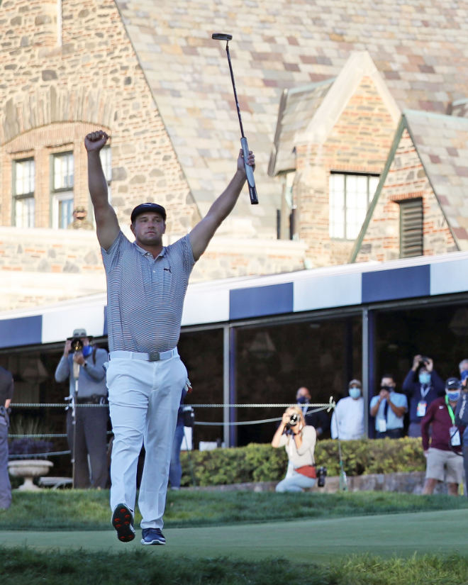 Bryson DeChambeau gewinnt 120. US Open 2020 im Winged Foot Golf Club in Mamaroneck, New York. (Photo by Jamie Squire/Getty Images)