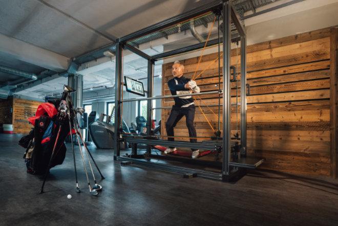 Krafttraining für Golfer am SensoPro. Fotocredit: Prime Time Fitness