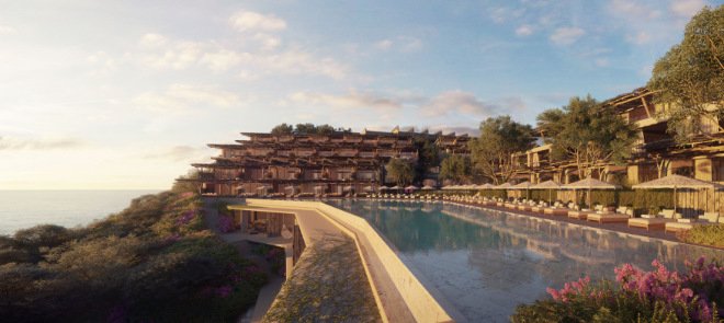 Das acht Hektar große Areal bietet Platz für 116 Suiten und (Strand)Villen, die sich perfekt an die Konturen der Bucht anschmiegen.