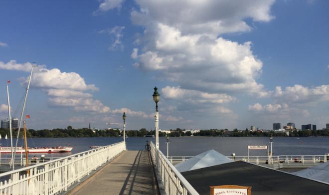 Städtereise Hamburg - Blick auf die Außenalster