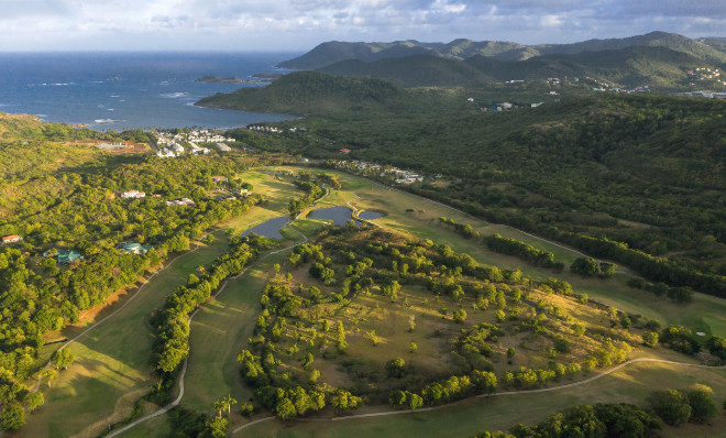 Blick auf den St. Lucia Golf & Country Club. Fotocredit: Sandals Resorts