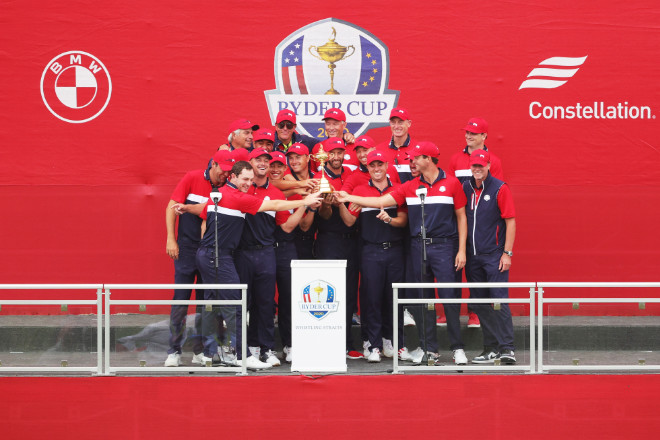Team USA gewinnt Ryder Cup in Whistling Straits in Kohler, Wisconsin. Fotocredit: Stacy Revere/Getty Images